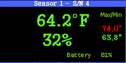 Current Status area for one sensor